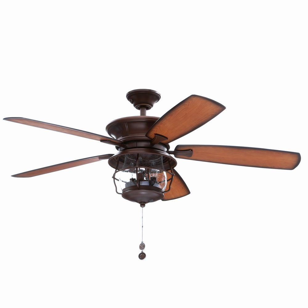 Westinghouse Brentford 52 In Indoor Outdoor Aged Walnut Finish Ceiling Fan 7800000 The Home Depot Ceiling Fan Wood Ceiling Fans Outdoor Ceiling Fans