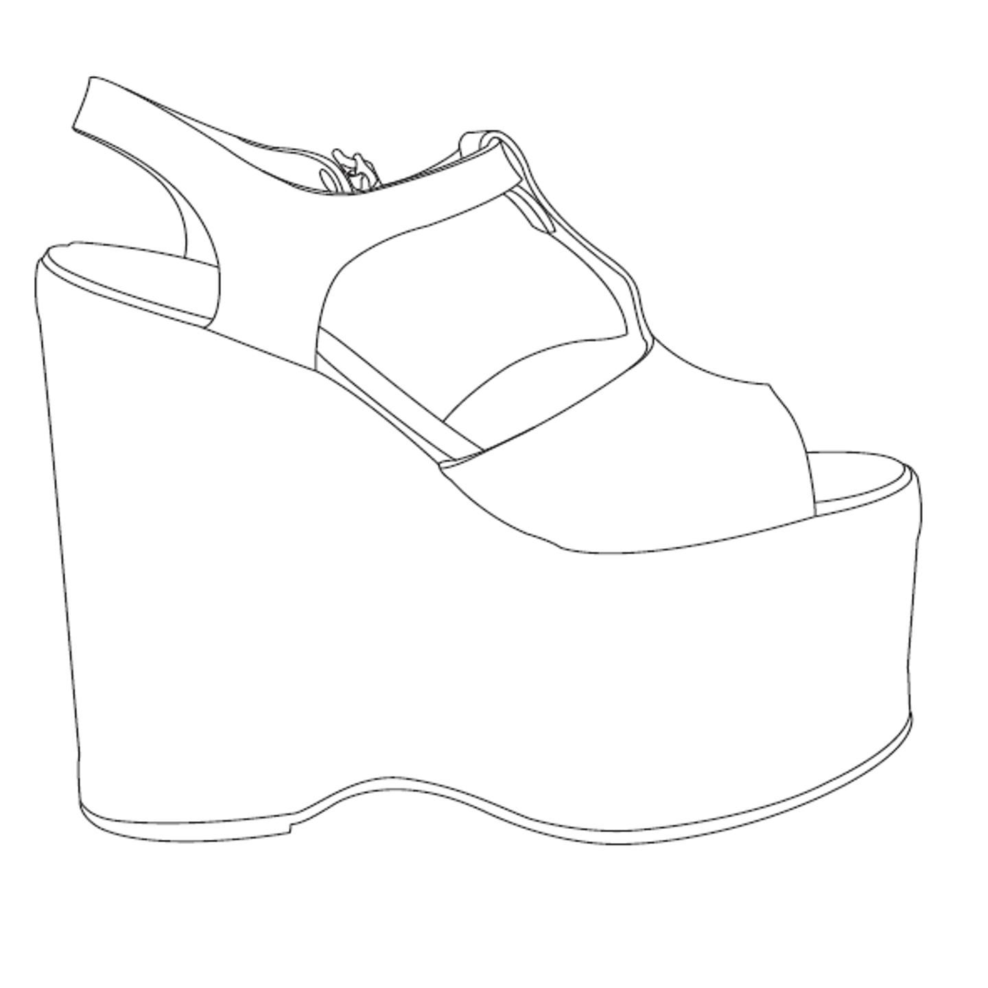 Shoe Template Images About Shoes Spec Drawings On