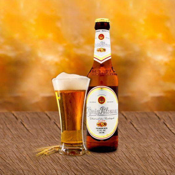 Bia Konig Pilsener 4,9% - Chai 330ml - Bia Nhập Khẩu