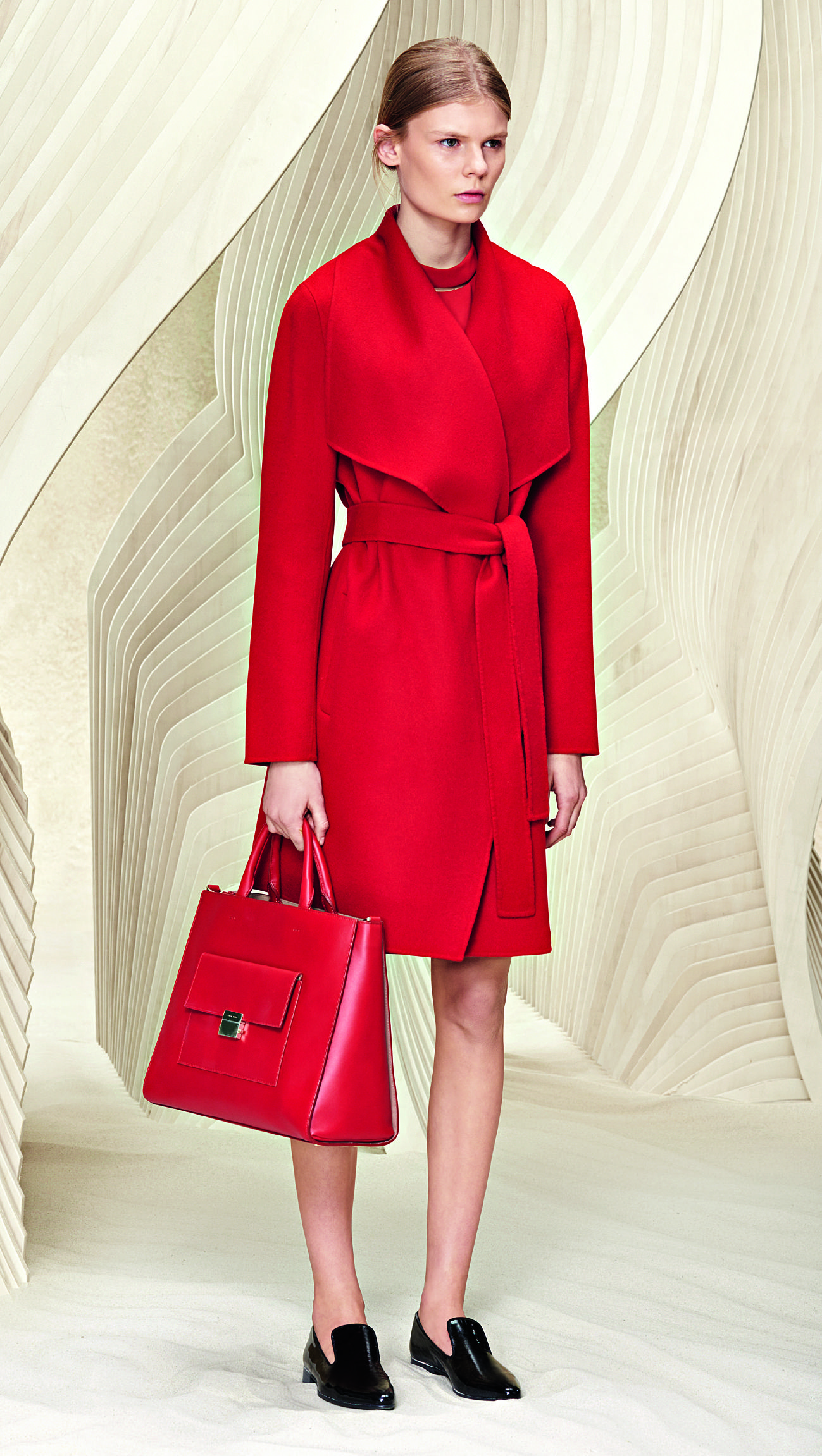 Complete in red - new bag and outerwear from the BOSS #resort2016 collection