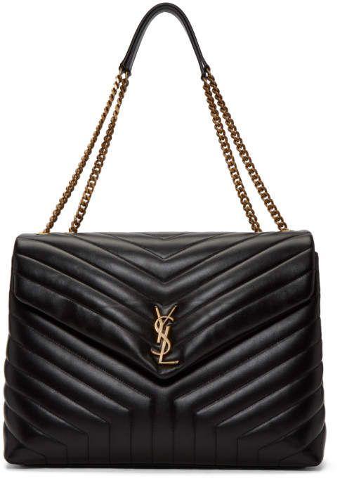 932ebbe1d2 Saint Laurent Black Large Lou Lou Chain Bag Ysl Handbags