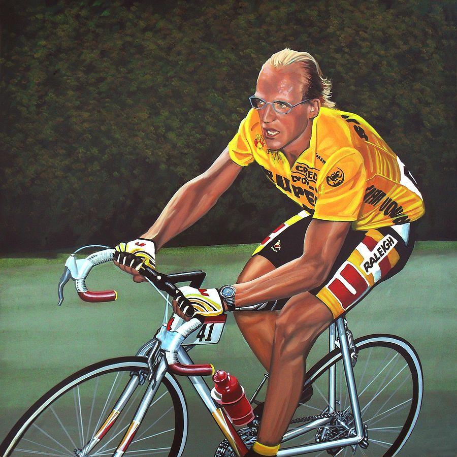 Laurent Fignon Painting | Ciclismo | Pinterest