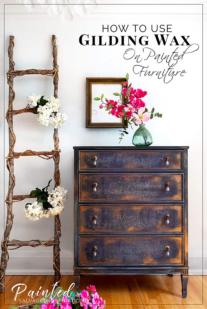 How To Use Gilding Wax on Painted Furniture #palletbedroomfurniture