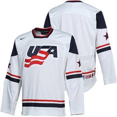 fbc733a23 Nike USA Hockey IIHF Tackle Twill Hockey Jersey - White