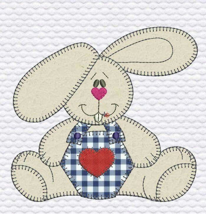 another cute applique bunny | Happy Quilting in Applique | Pinterest ...