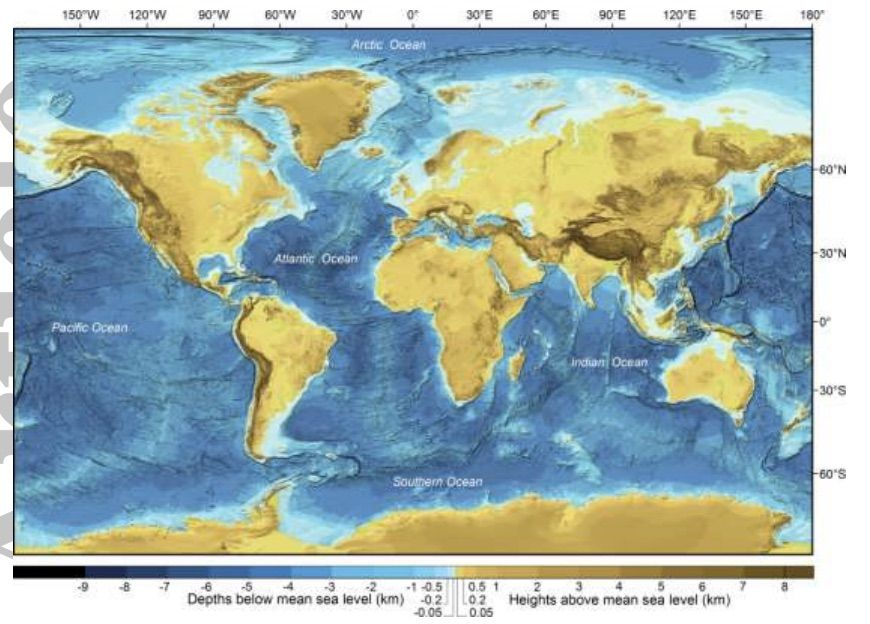 Its time to geek out over a new global bathymetric data set map general bathymetric chart of the oceans gebco has released the grid a new digital bathymetric model of the world ocean floor merged with land topography gumiabroncs Image collections