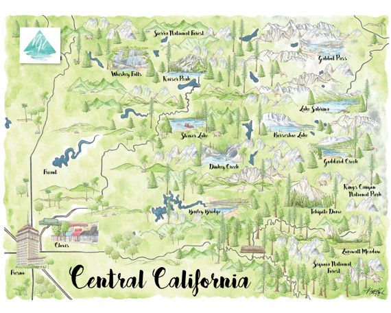 Kings Canyon National Park Art, Sequoia National Park, Sequoia Art ...