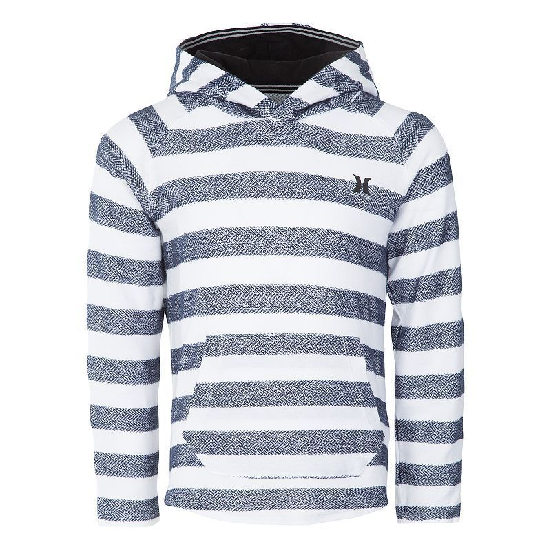 Boys 4-7 Hurley Herringbone Striped Pullover Hoodie, Size: 5, Blue (Navy)