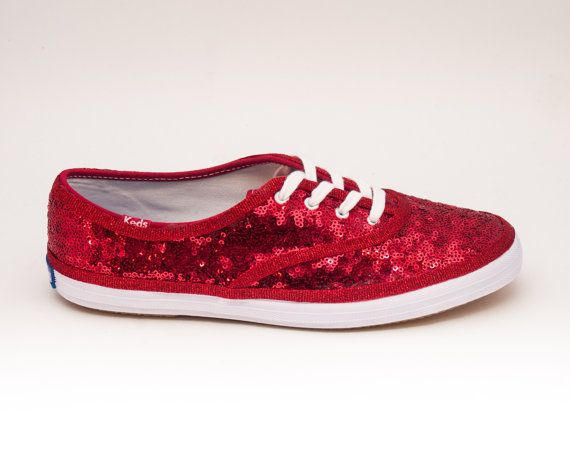 bd39d2dc426f16 Sequin Starlight Red Keds Sneaker Canvas Tennis by princesspumps Red  Sparkly Shoes