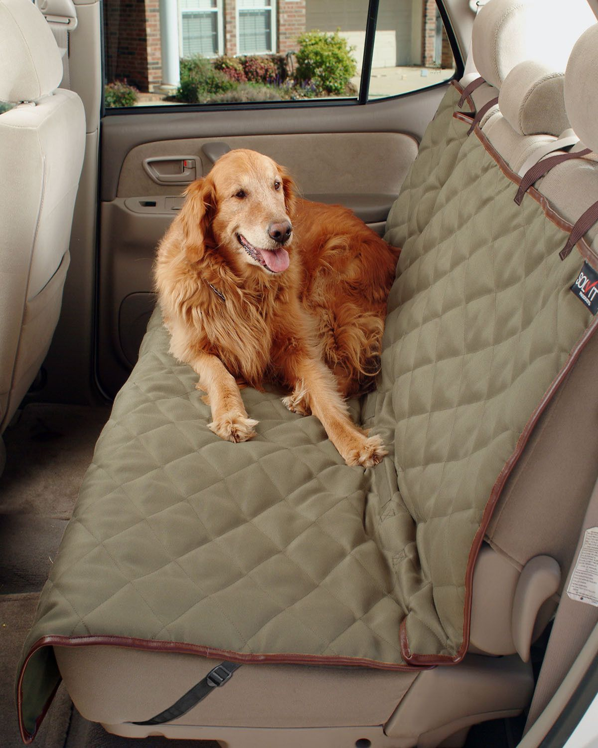 Fine Solvit Deluxe Sta Put Bench Seat Cover For Dogs Hoyt Pet Ibusinesslaw Wood Chair Design Ideas Ibusinesslaworg