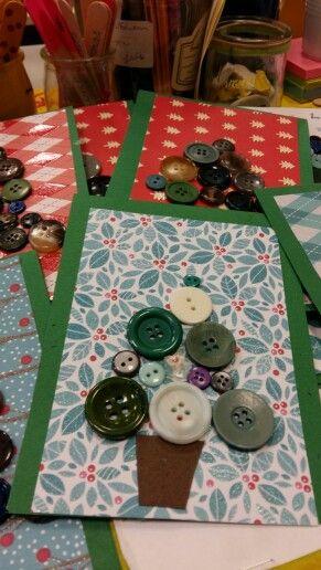 Carte de noel avec des boutons