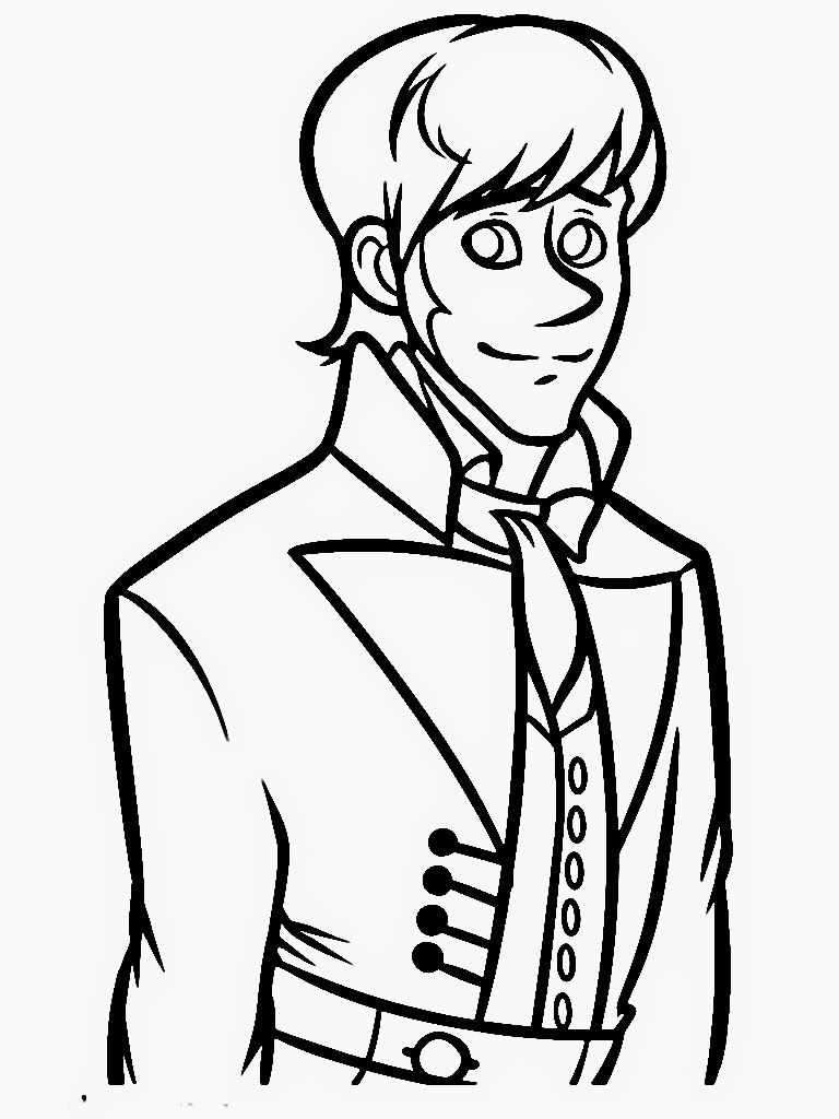 frozen coloring pages face of prince hans coloring pages images