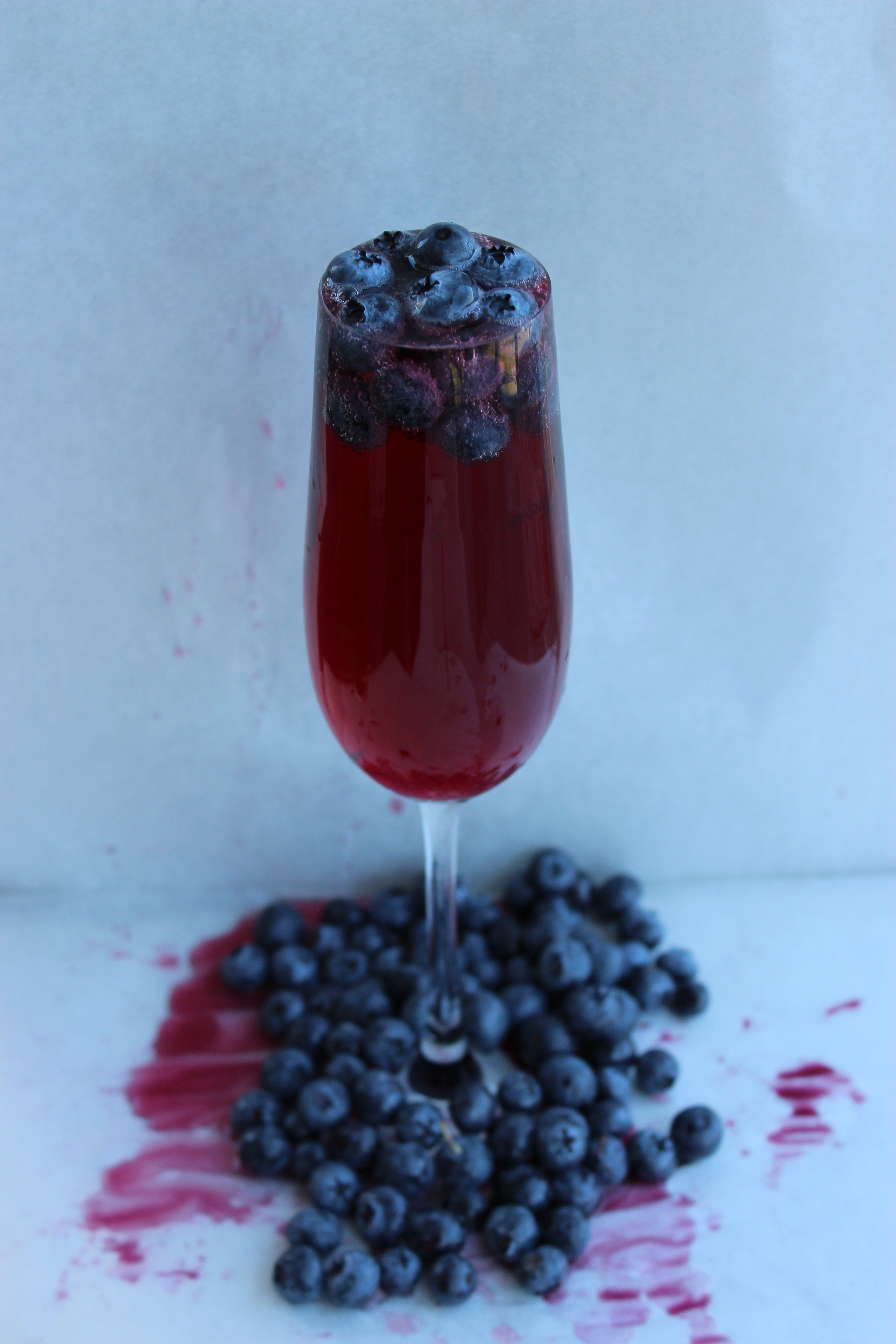 Blueberry Mimosa Fruit Juice Cocktails Fruit Cocktails Yummy Drinks