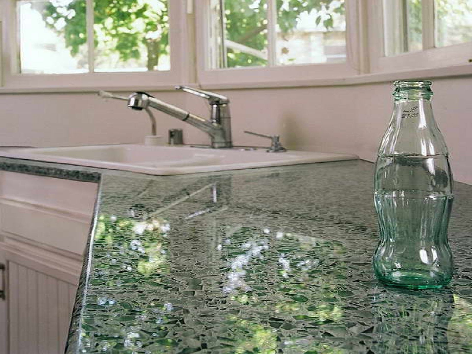 Kitchen Recycled Glass Countertops Resin Countertops Crushed