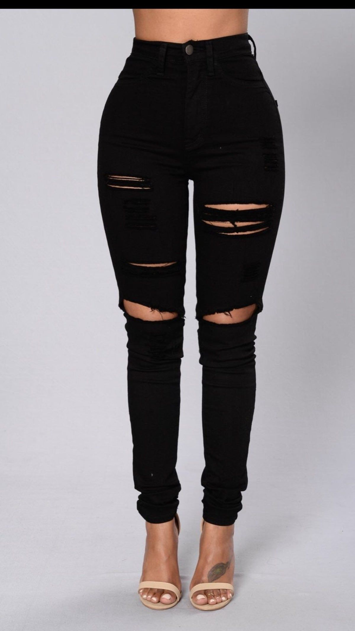 High Waisted-Rise Colored Stretch Skinny Destroyed Ripped Distressed Jeans for Women Olive Mustard RED