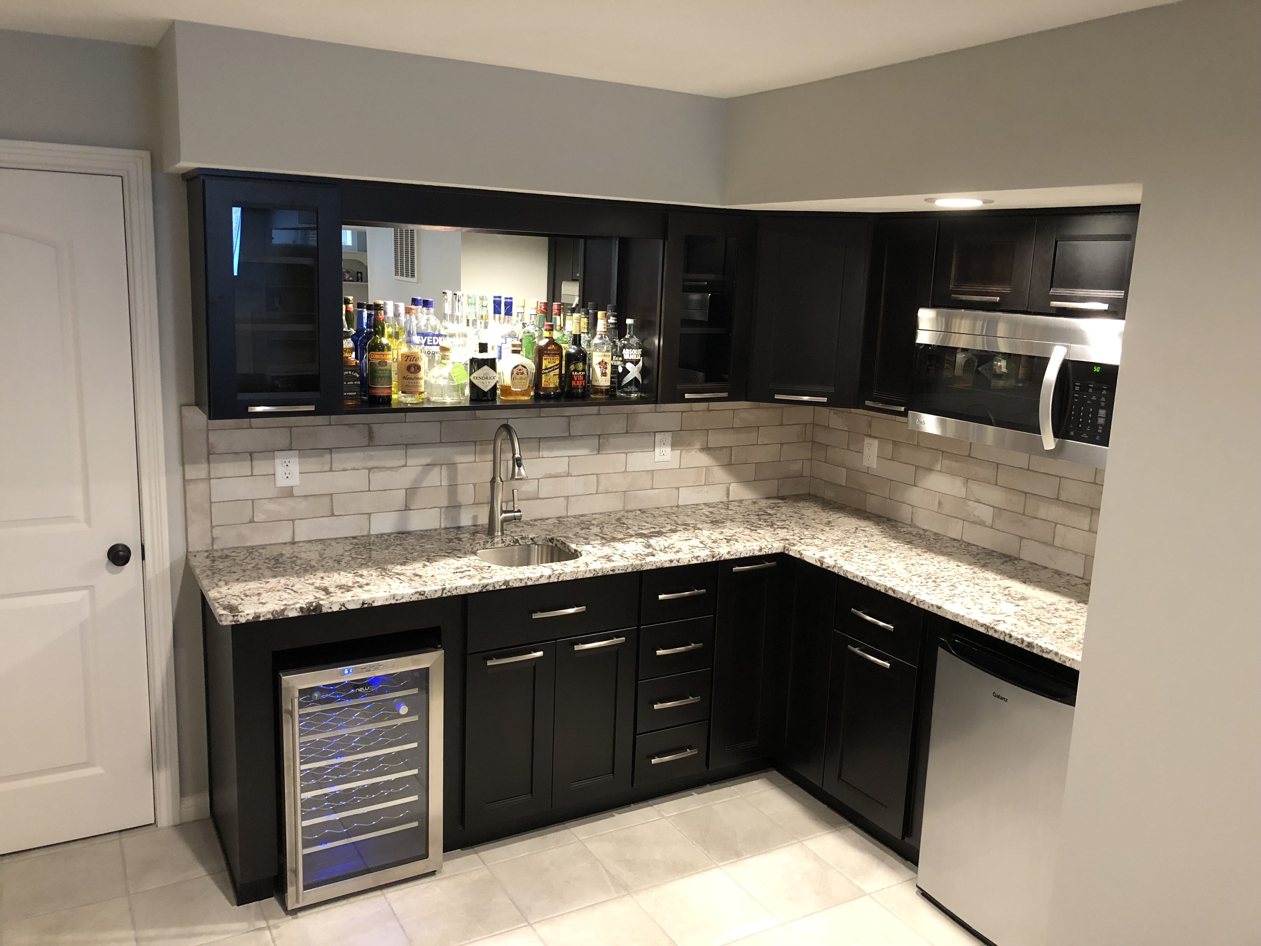 L Shaped Basement Bar Kitchenette Kitchenette Design Basement