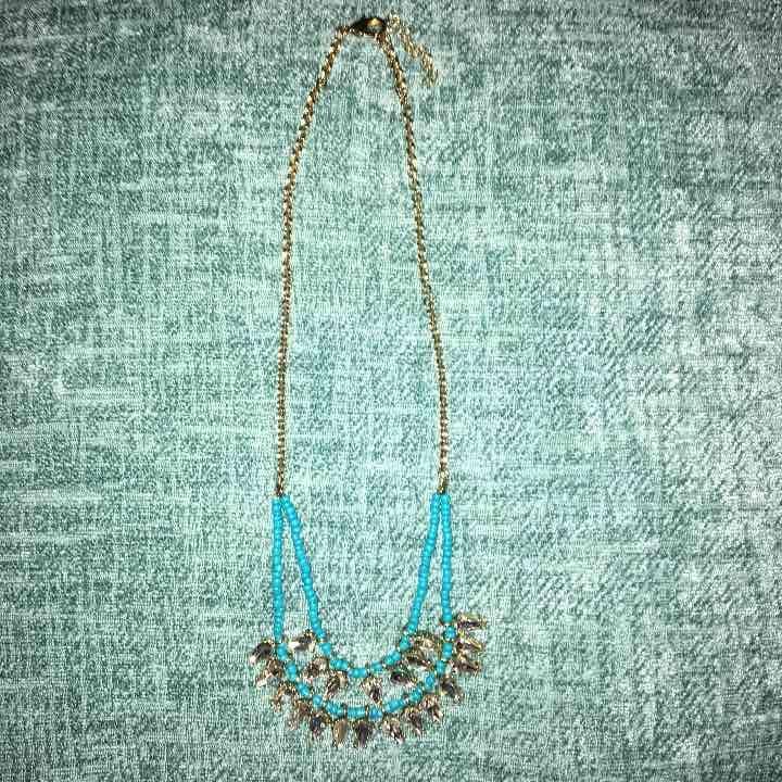 Gold & Tortoise Beaded Diamond Necklace - Mercari: Anyone can buy & sell