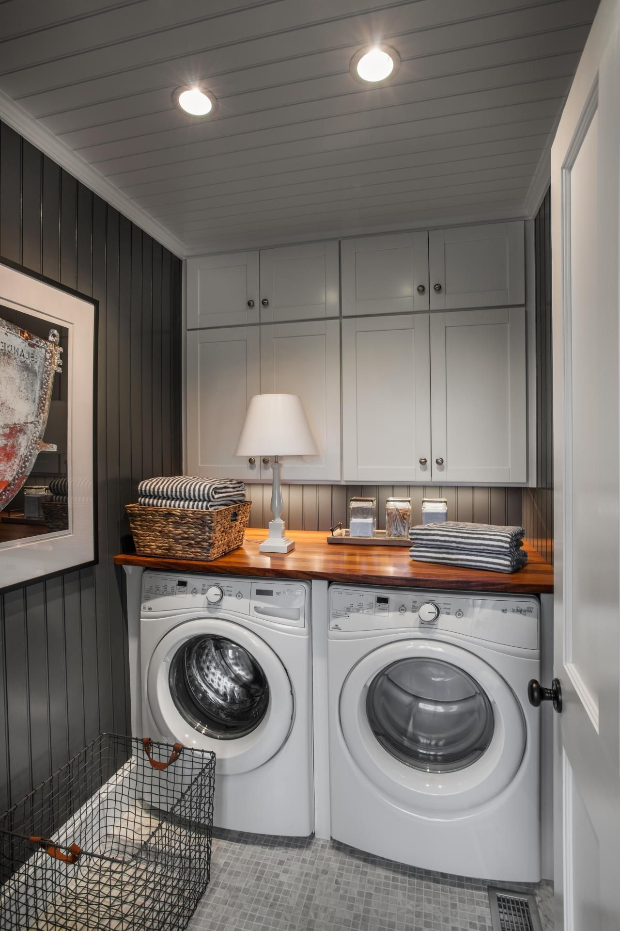 Small But Functional Laundry Room Elegant Laundry Room Laundry Room Storage Shelves