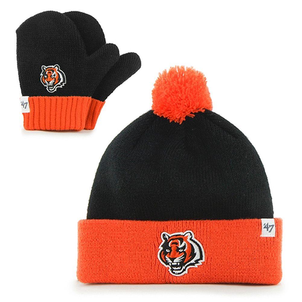Cincinnati Bengals - Logo Bam Bam Toddler Pom Pom Beanie and Mitten ... 3b0de4a3be4e