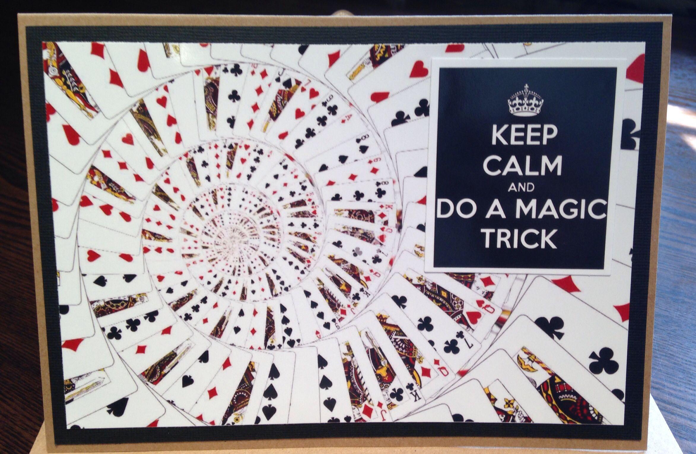 Magic card; layered, die cut, gloss paper, birthday card