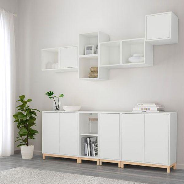 20 Practical Wall Ideas With Ikea EKET Cabinet