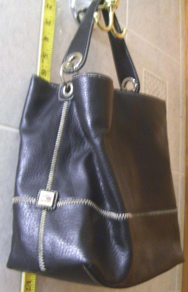 TOMMY HILFIGER handbag FREE S&H black purse bag shoulder metal LOGO extra strap #TommyHilfiger #ShoulderBag