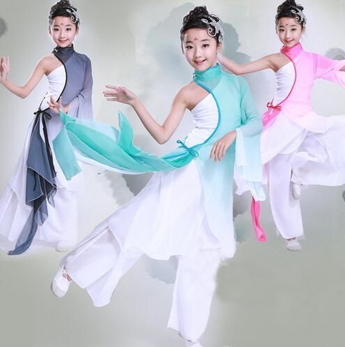 247b9ed40 4 Color Children Chinese Dance Costume Kid Yangko Dance clothing ...