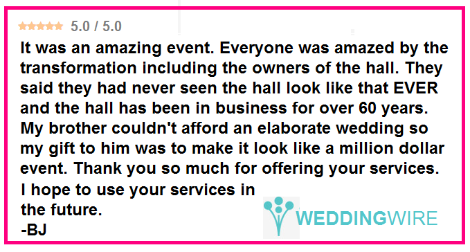 "Love how lighting can transform a venue!  ""My brother couldn't afford an elaborate wedding ... but the lighting made it look like a million dollar event!"" #feelingthelove #ilovemyjob #specialmoment #thisiswhywedoit #diy #rentmywedding #wedding #diywedding #weddinginspiration #inspiration #celebration #weddingreception #event #planning #dreamwedding"
