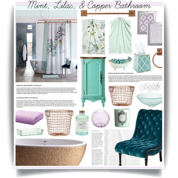 Great Mint, Lilac U0026 Copper Bathroom Decor By Hmb213 On Polyvore Featuring  Interior, Interiors,