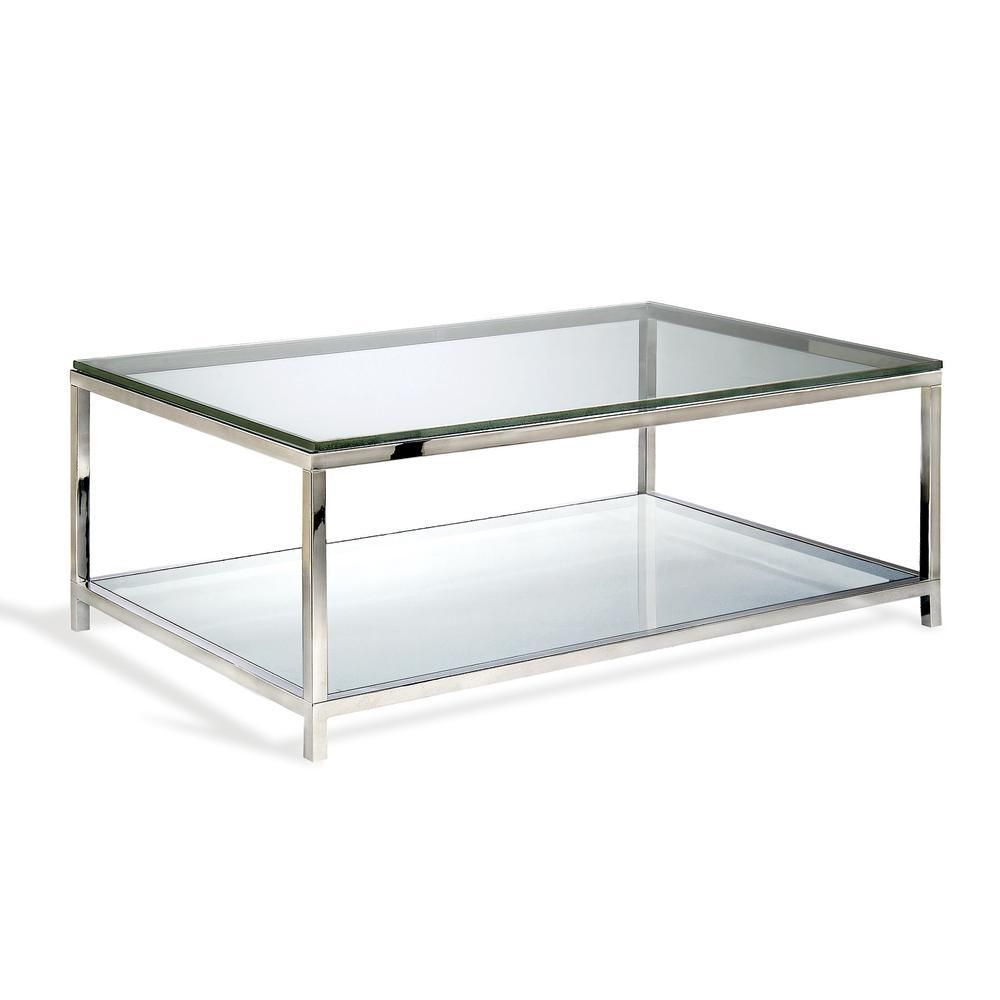 Basis Two Tiered Cocktail Table Ideas For The House Black Glass