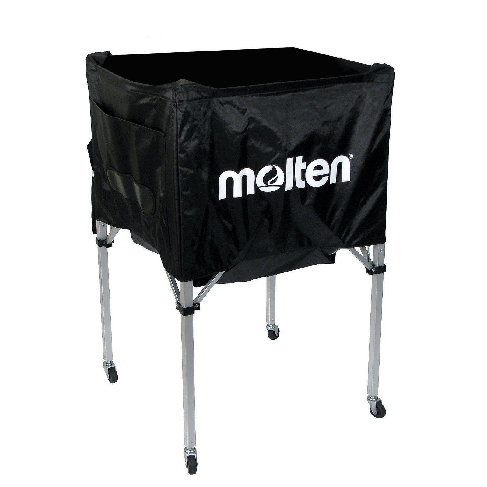 Molten Standard Series Square Ball Cart Black Molten Volleyball Simple Storage