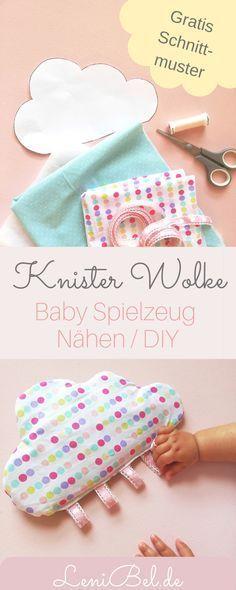 Nuage craquelé avec boucles – couture pour bébés avec motif de couture   – Selbermachen basteln zu hause