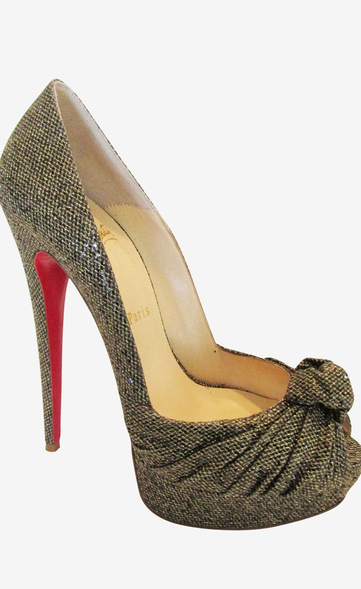 Louboutin Gold And Multicolor Pump 39 Eu Size Chart Not Your