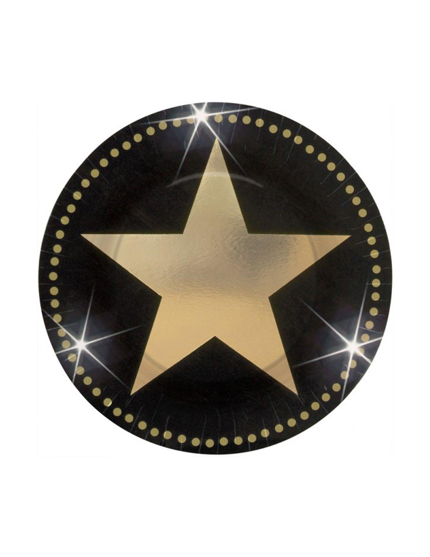 Miniplatos Con Estrellas Doradas Decoración Y Disfraces Originales Baratos Vegaoo Decoraciones De Fiesta De Hollywood Fiesta De Cine Fiesta De Hollywood