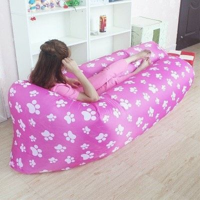 NEW TREND*** Kids Fast Inflatable Banana Lazy Bag - Super cute puppy