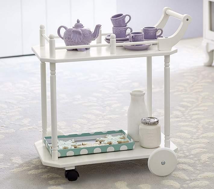 Pink Ceramic Classic Tea Set Tea Teaset Play Kid Toy