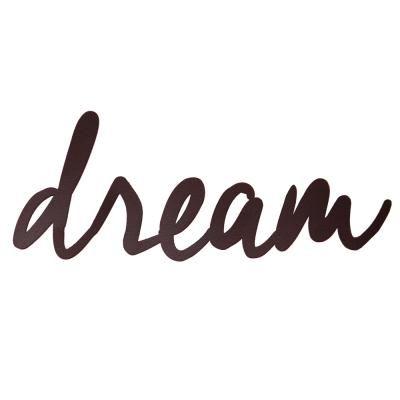 Decoração - Apliques - MID - APLIQUE DREAM- MARROM #adesivo #aplique #sticker #decoratingideas #decorate #dream