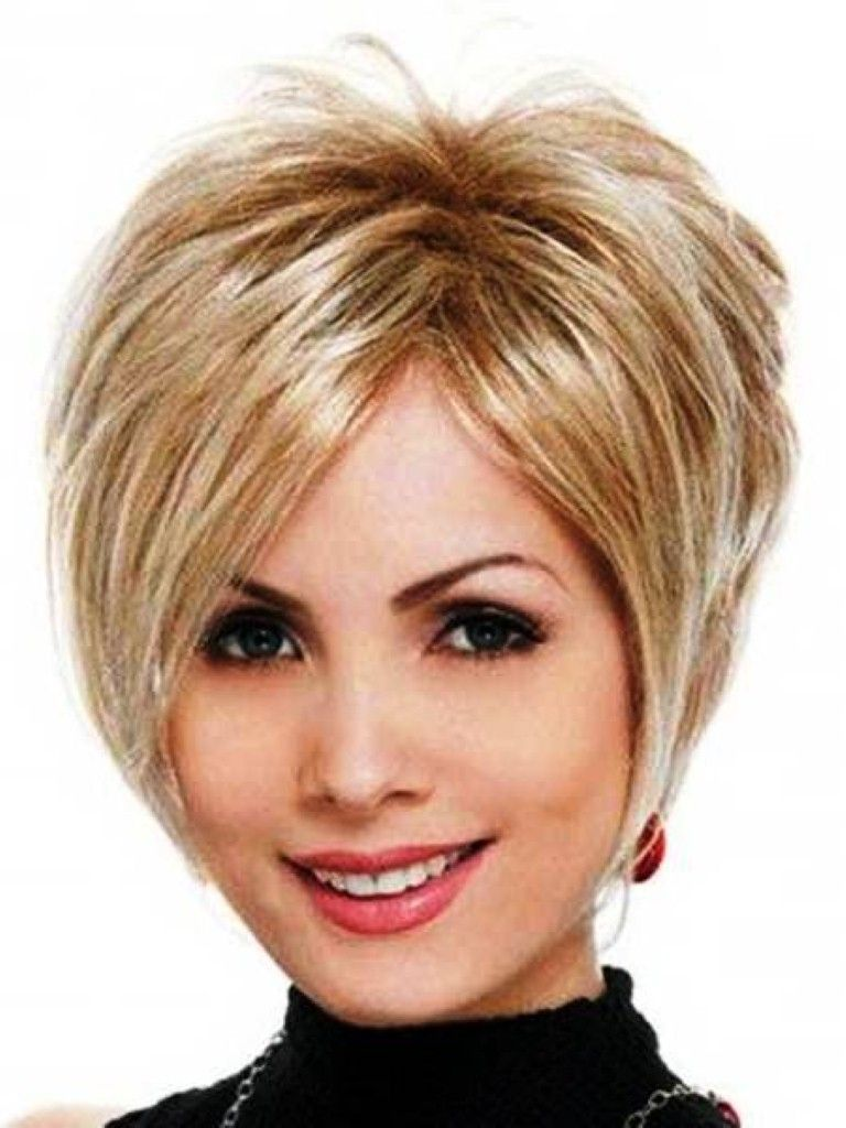 Short layered hairstyle with long strands hair pinterest short