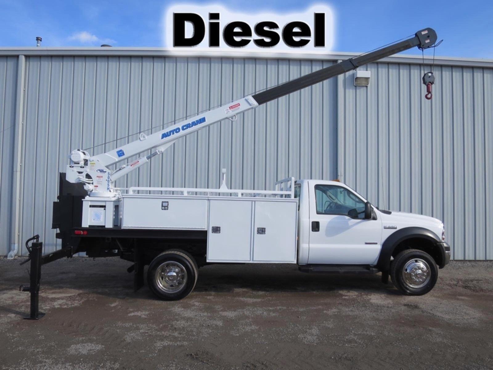 F550 Diesel Utility Service Mechanics 5000lb Auto Crane Boom Tank Truck Utility Services Work Truck Truck Auction