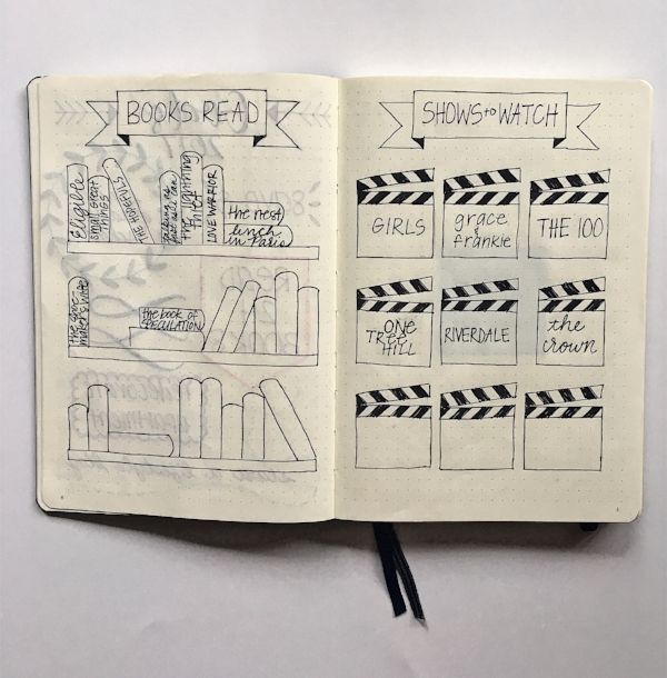 Love Tina Rose Bullet Journal Books and Shows Trackers ...