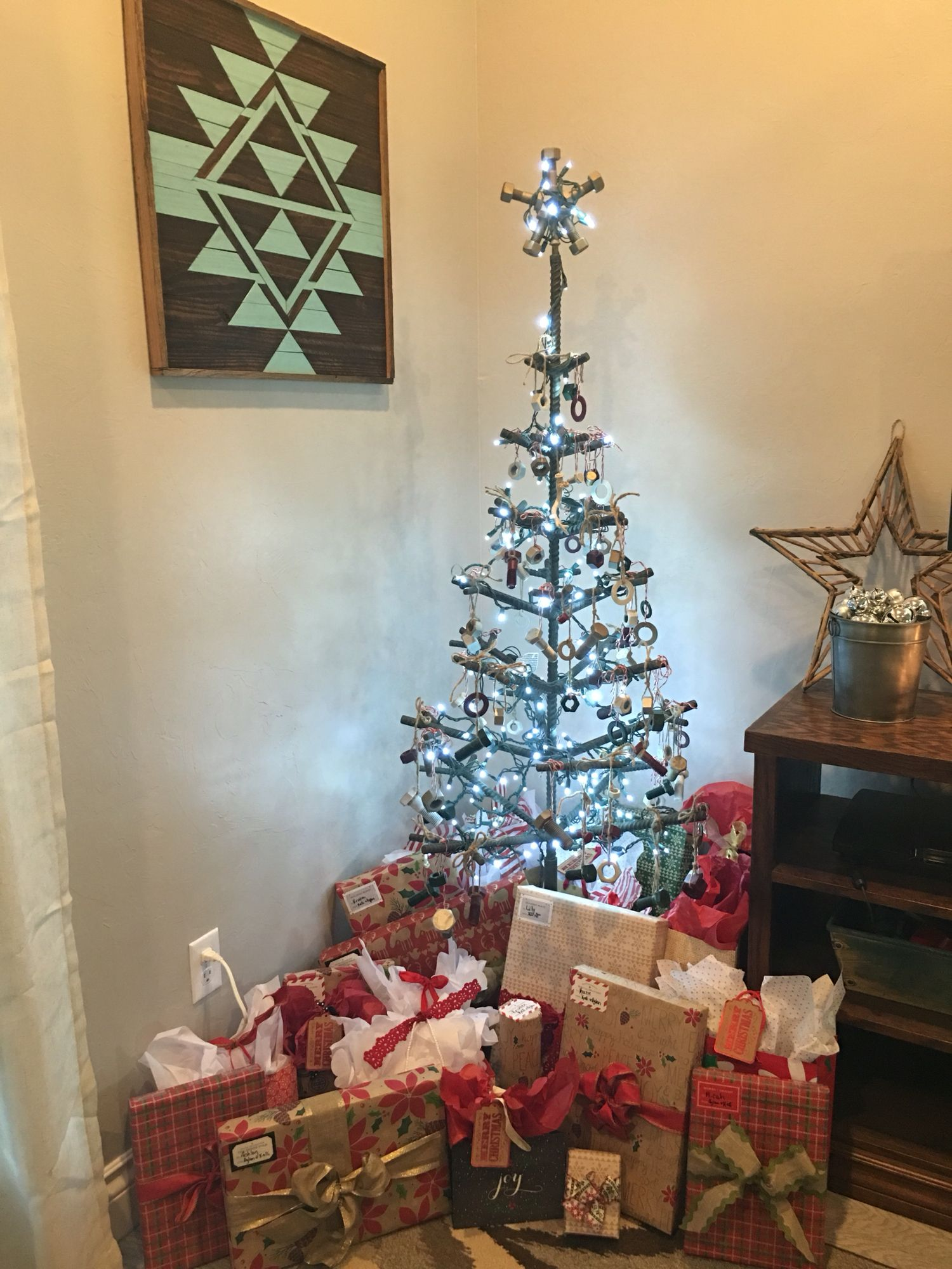 Nuts And Bolts Christmas Tree
