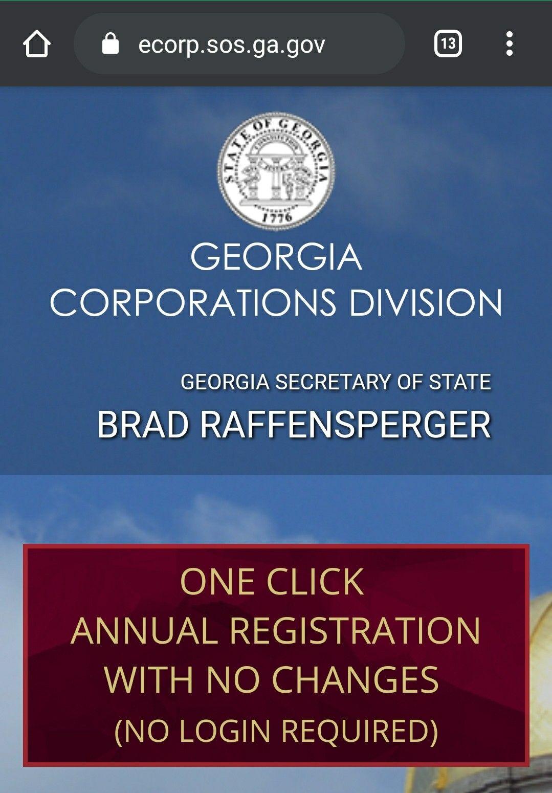 SoS GA STARTING OFF in 2020 Corporate, Finance, Secretary