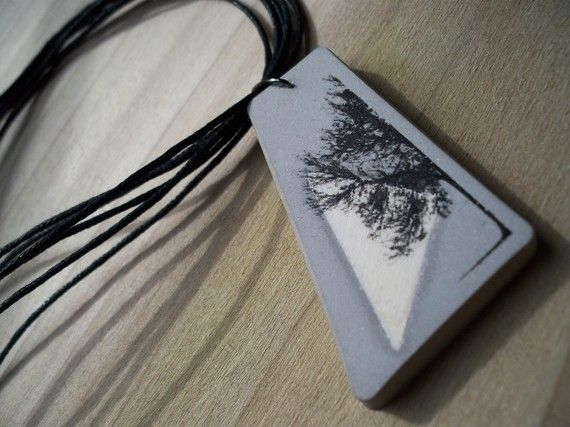 Trends:concrete-Necklaces and pendants by Maria Novaes on Etsy