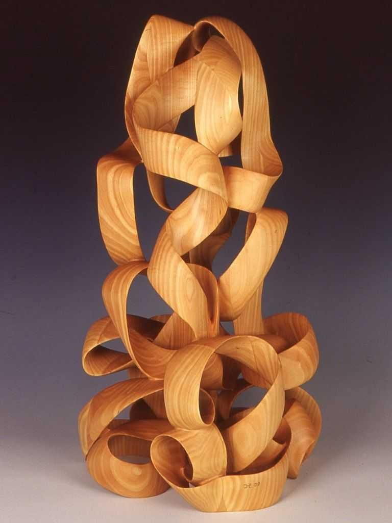 Sculpted Mobius Ribbon In Wood The First Of Two By Harry Pollitt Wood Art Projects Wood Sculpture Wood
