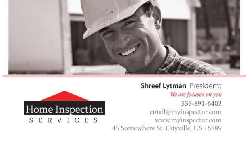 business card inspector Home Inspection Business Card Templates - home inspection report template