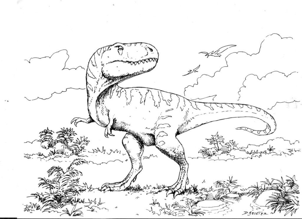 Free T Rex Coloring Pages For Kids