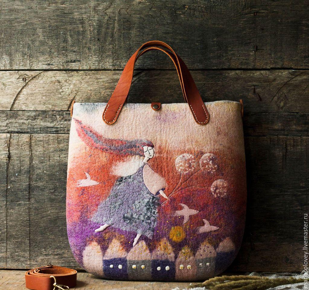 77170adb3a4d Amazing hand felted bag   Купить Авторская валяная сумка
