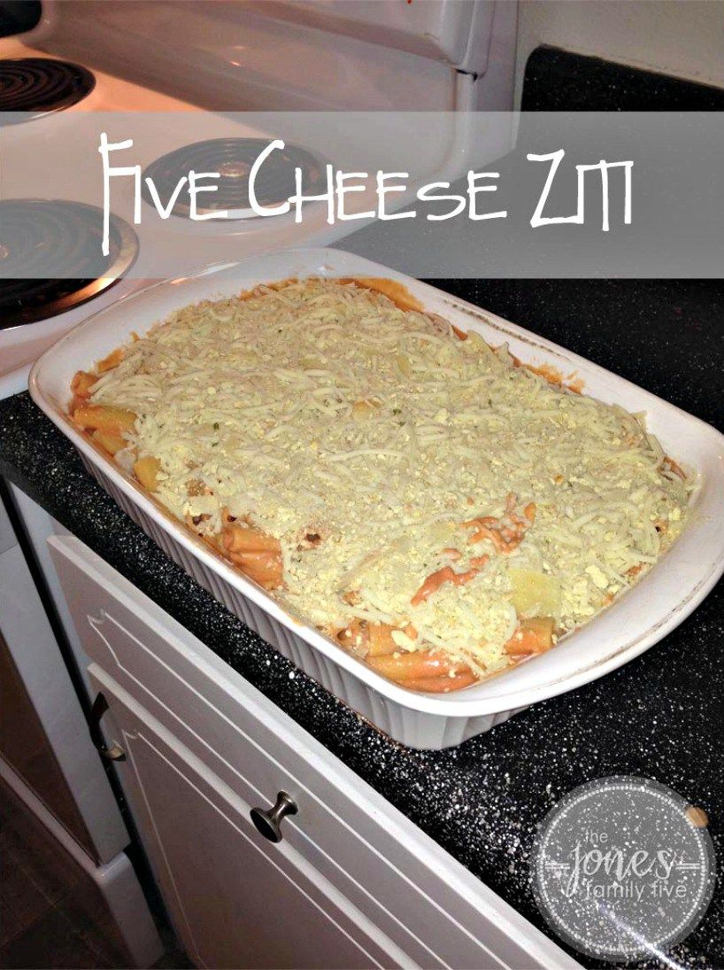 Five Cheese Ziti Fun easy recipes, Five cheese ziti, 5