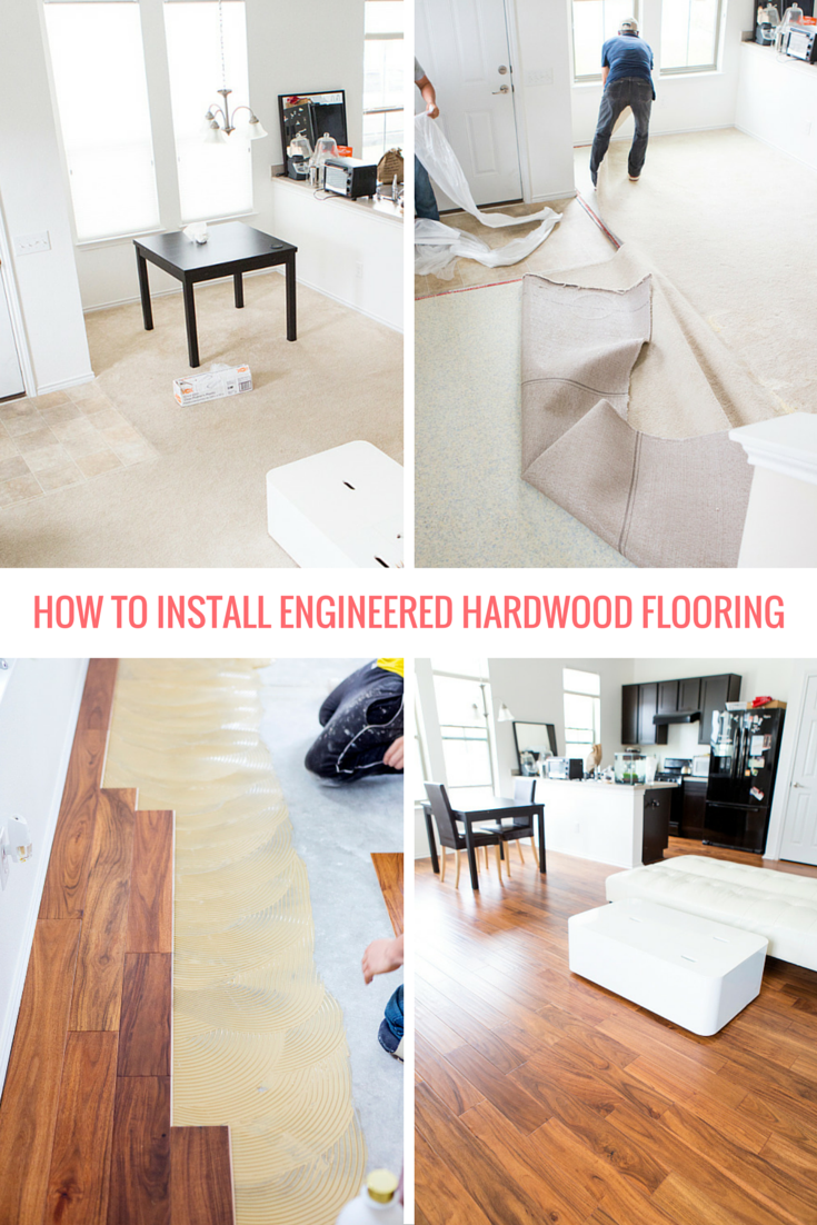 How To Install Engineered Hardwood Flooring Lay A Floor Pinterest Ideas Diy And House Remodeling