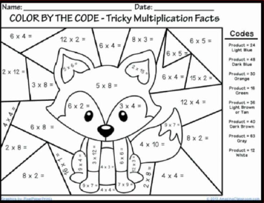 Multiplicaciones En Dibujos Para Pintar Matematicas Actividades